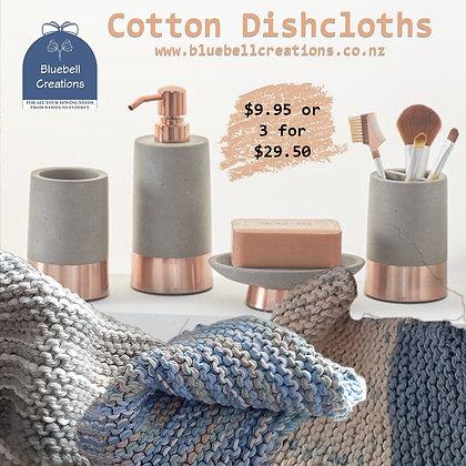 Knitted organic cotton dishcloth