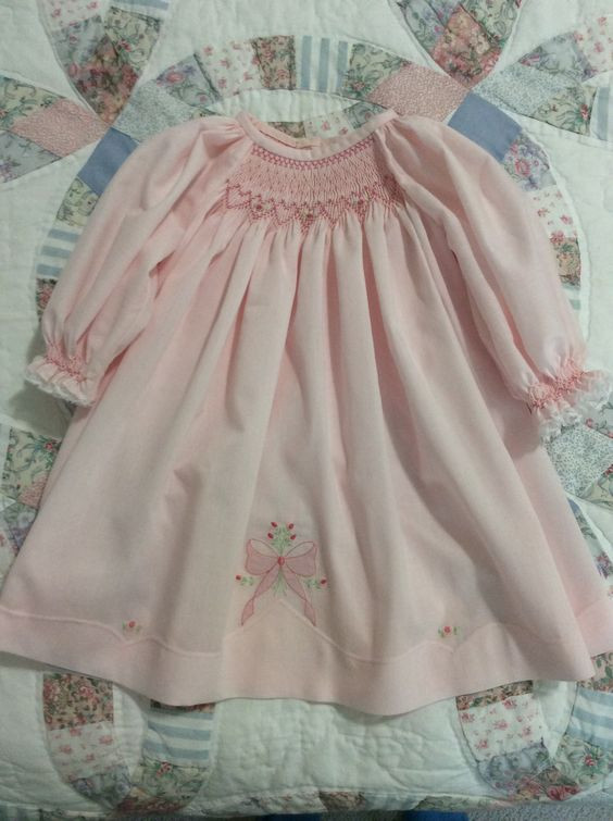Partially smocked bishop gown.jpg