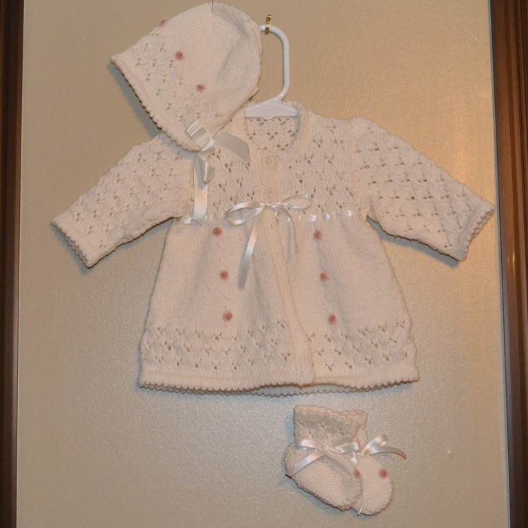 Knitted layette set.JPG