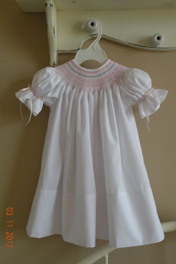 Smocked short sleeve bishop gown.jpg