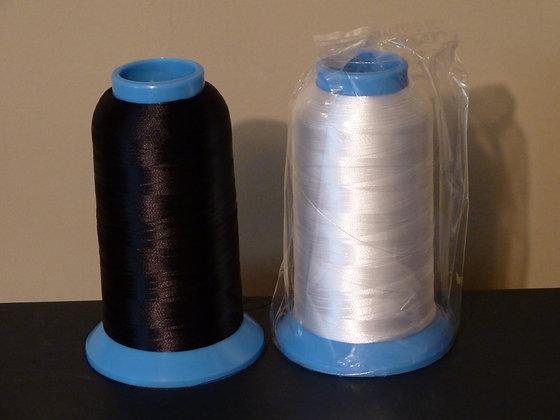 White Bobbin Thread for embroidery 60wt