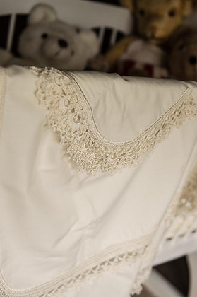 Cabella hemstitched shawl set