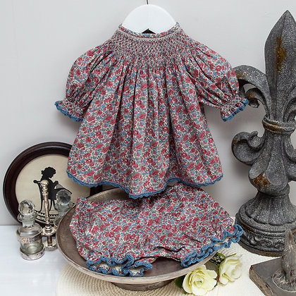 Liberty smocked baby outfit 6m