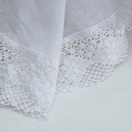 White Linen Muslin shawl