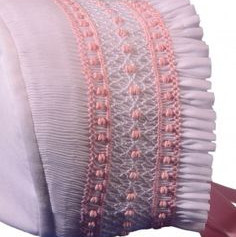 Smocked horseshoe bonnet