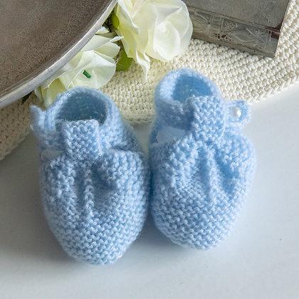Cornflower Blue knitted booties