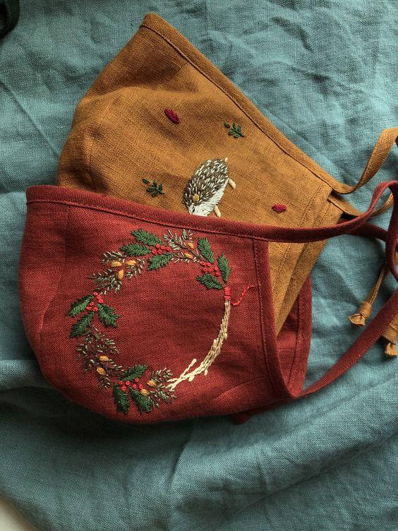 Embroidered linen bonnets.jpg