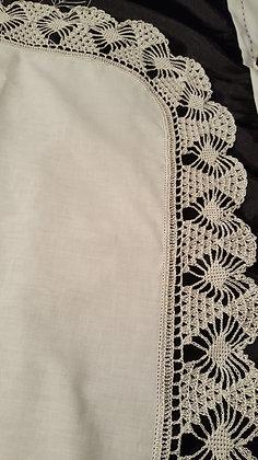 Hourglass Crochet Edging for shawl