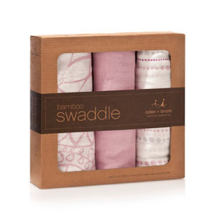 aden+anais Tranquility Bamboo Swaddle, 3 pack
