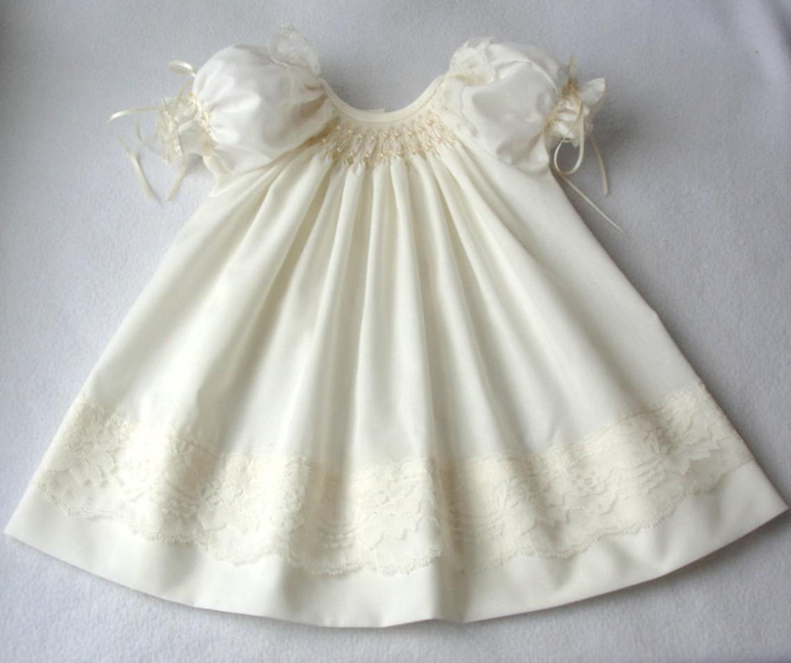 Smocked baby dress with puff sleeves gat