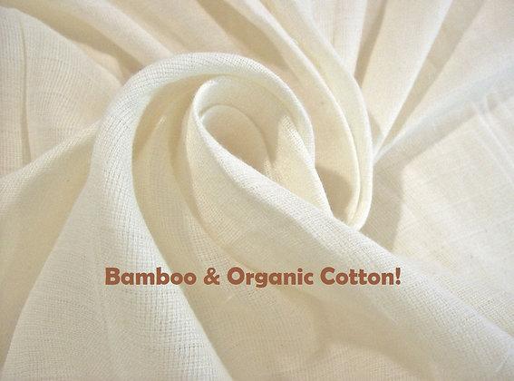 Organic cotton & Bamboo muslin wipes