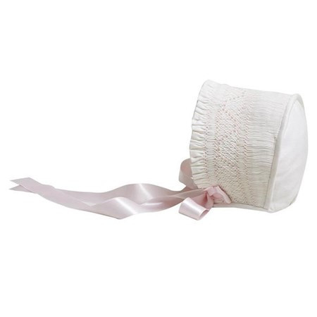 Smocked bonnet with horseshoe back (2).j