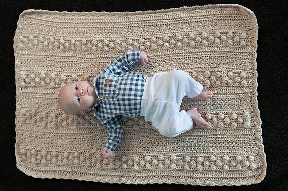 Billy Bobble Merino crochet blanket