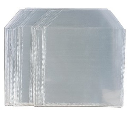 100-Piece Plastic CD/DVD Sleeves (Clear)