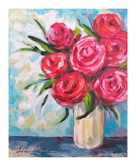 """Vase of Roses"""