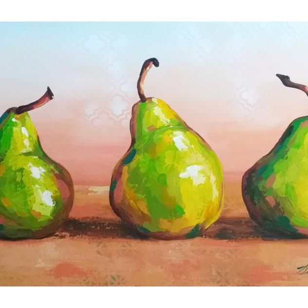 """Social Distancing Pears"""
