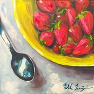 """Strawberries in Yellow Bowl"""
