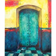 """""""Morroco Door with Checkered Floor"""""""