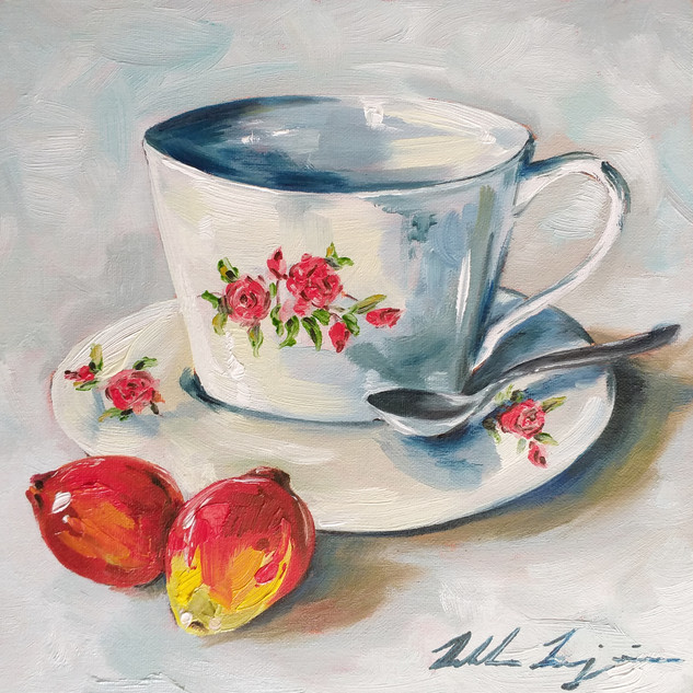 """Strawberry Guava with Teacup"""