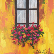"""""""Yellow wall with Flowered Window"""""""