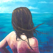 """Woman and Ocean"""