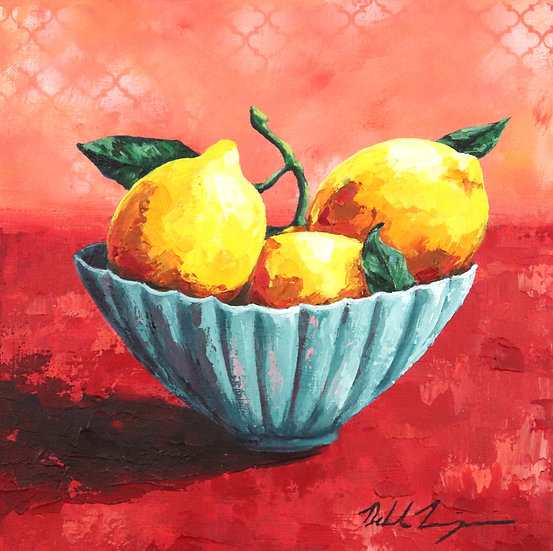 """Lemons in Blue Bowl"""