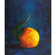 """Orange on Blue"""