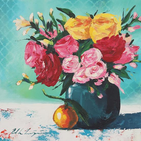 """Spring Bouquet and Orange"""