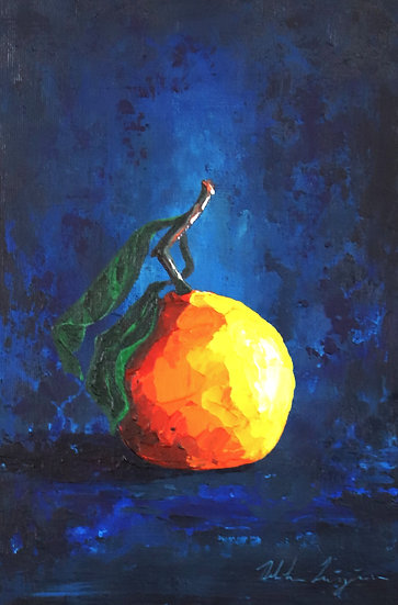 """""""Orange on Deep Blue"""""""