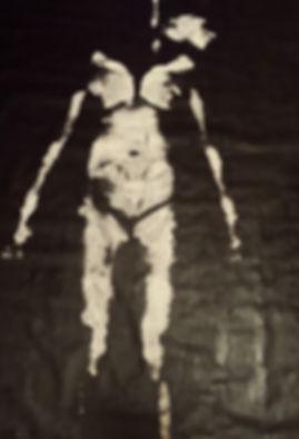 HUNG body print 72_ x 48_ acrylic on unf