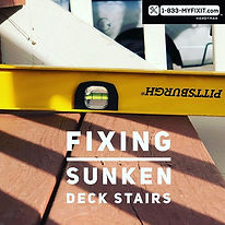Do you have deck stairs that have settle