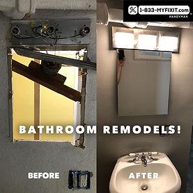 Bathroom Remodels. This big ol pipe was