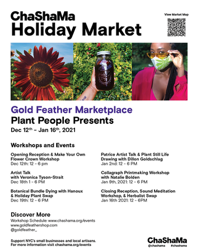 Holiday Market Poster with Schedule