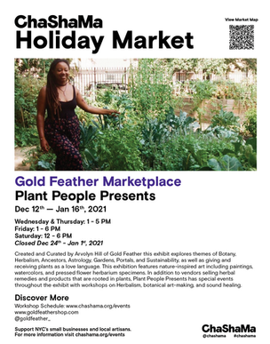 Holiday Market Poster: Goldfeather 1/2