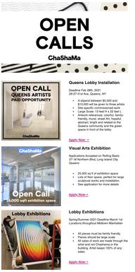 Open Call Eblast 1/2