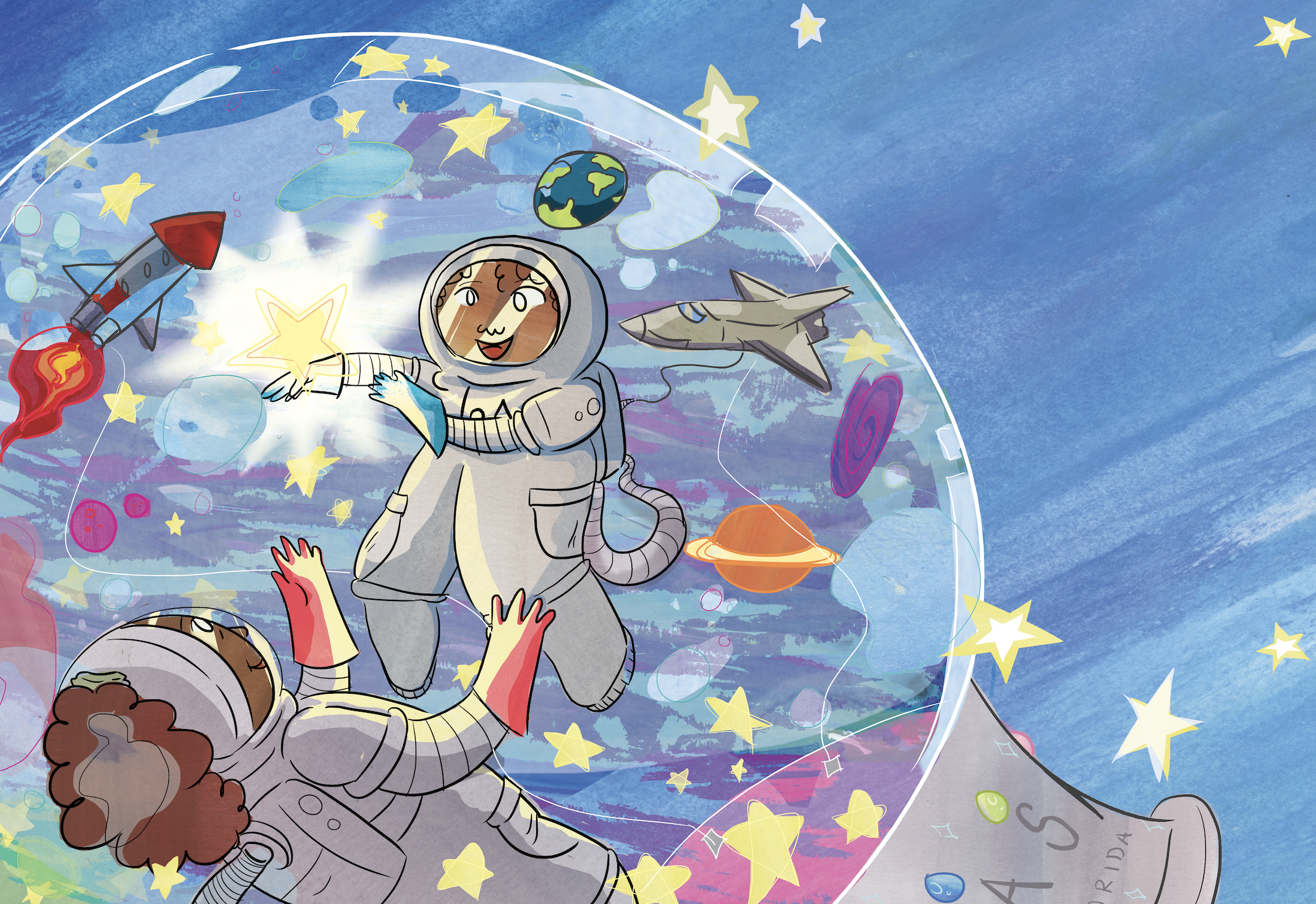 Snowglobe Trotters in Space