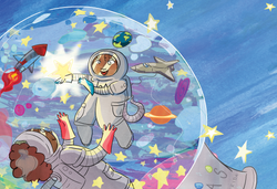 Snowglobe Trotters in Space