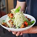 Crispy Pork Belly Papaya Salad.