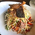 Fried Salmon Salad.