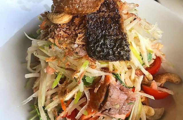 Salmon salad is on the menu tonight 😋