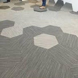 alfombra hexagonal