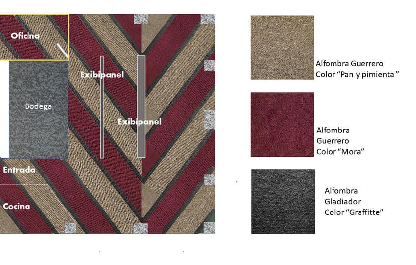 alfombra para de uso rudo para oficinas.