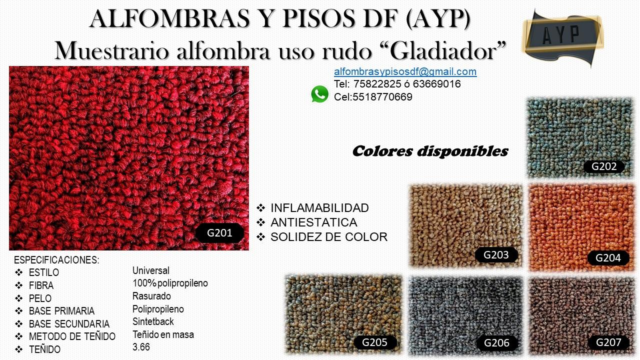 Muestrario alfombra uso rudo