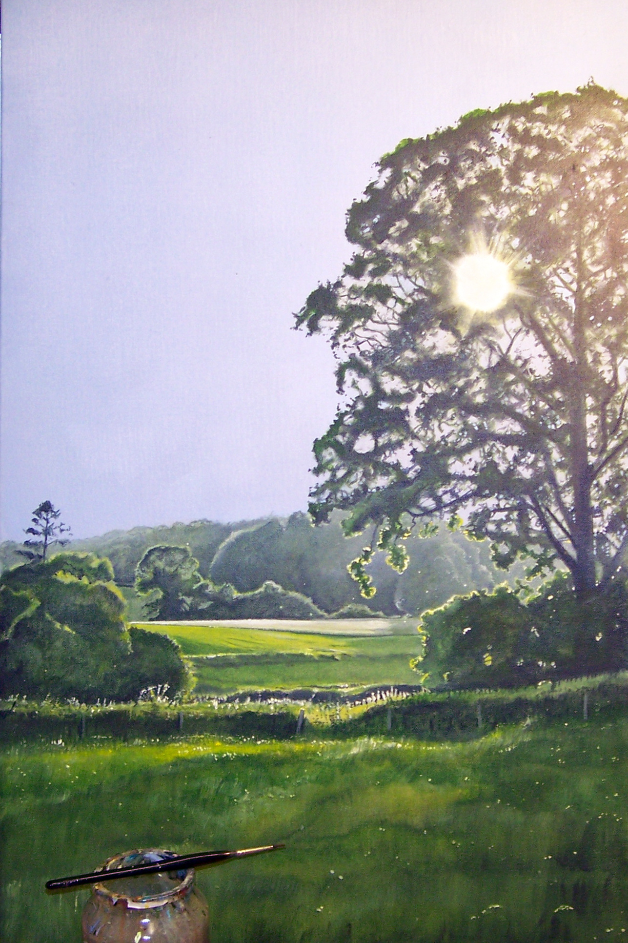 River Otter Valley painting