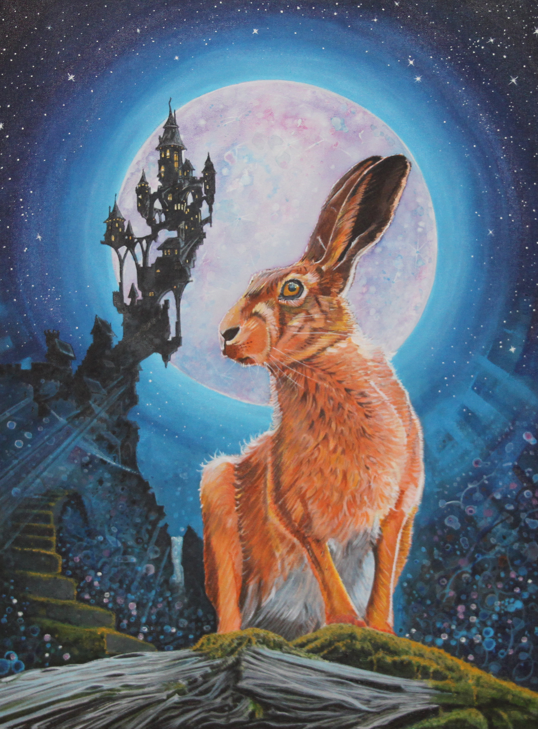 Hare and moon .