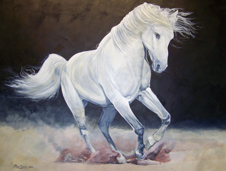 White-arabien-horse