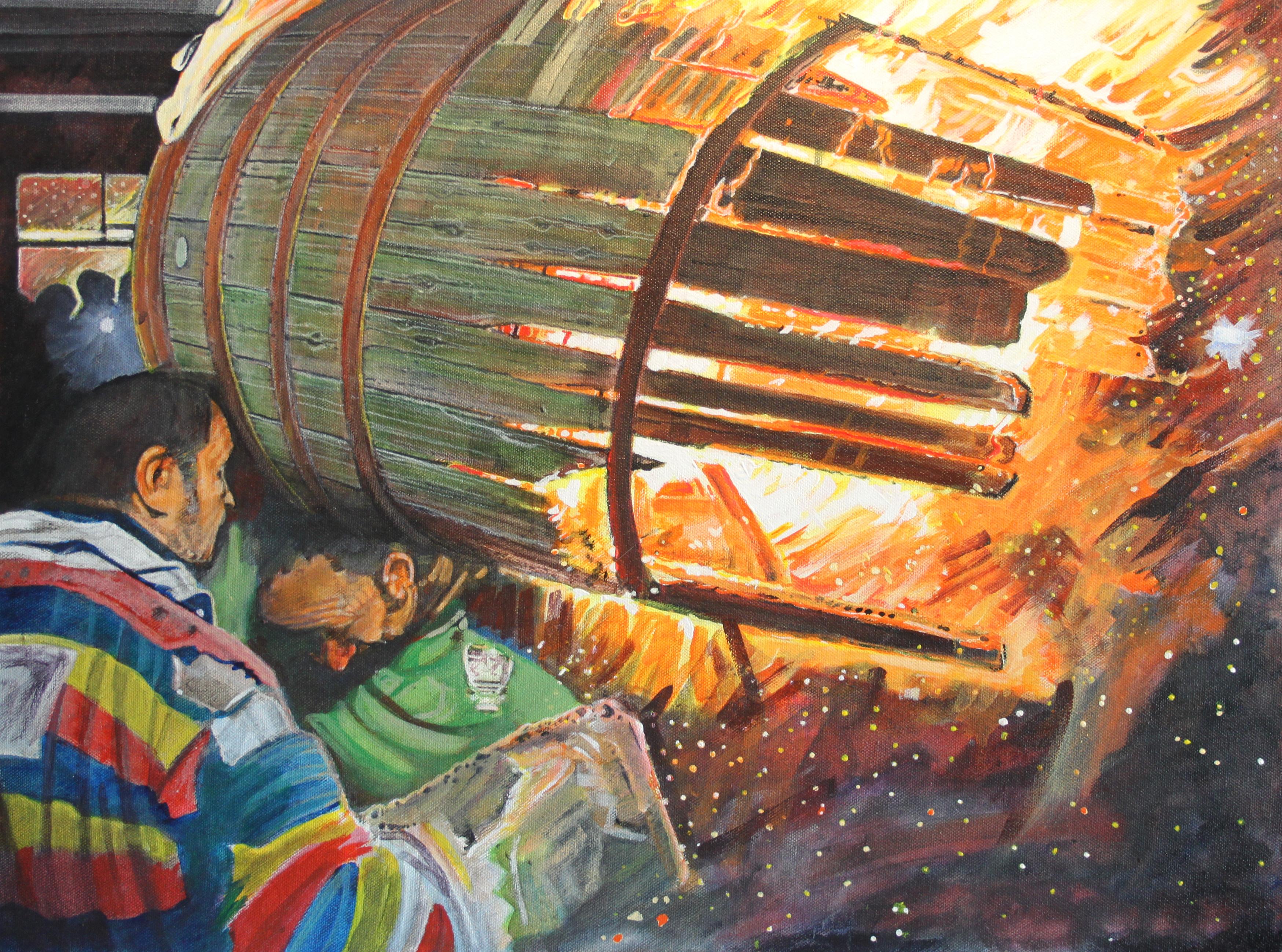 Tar barrels Ottery St Mary