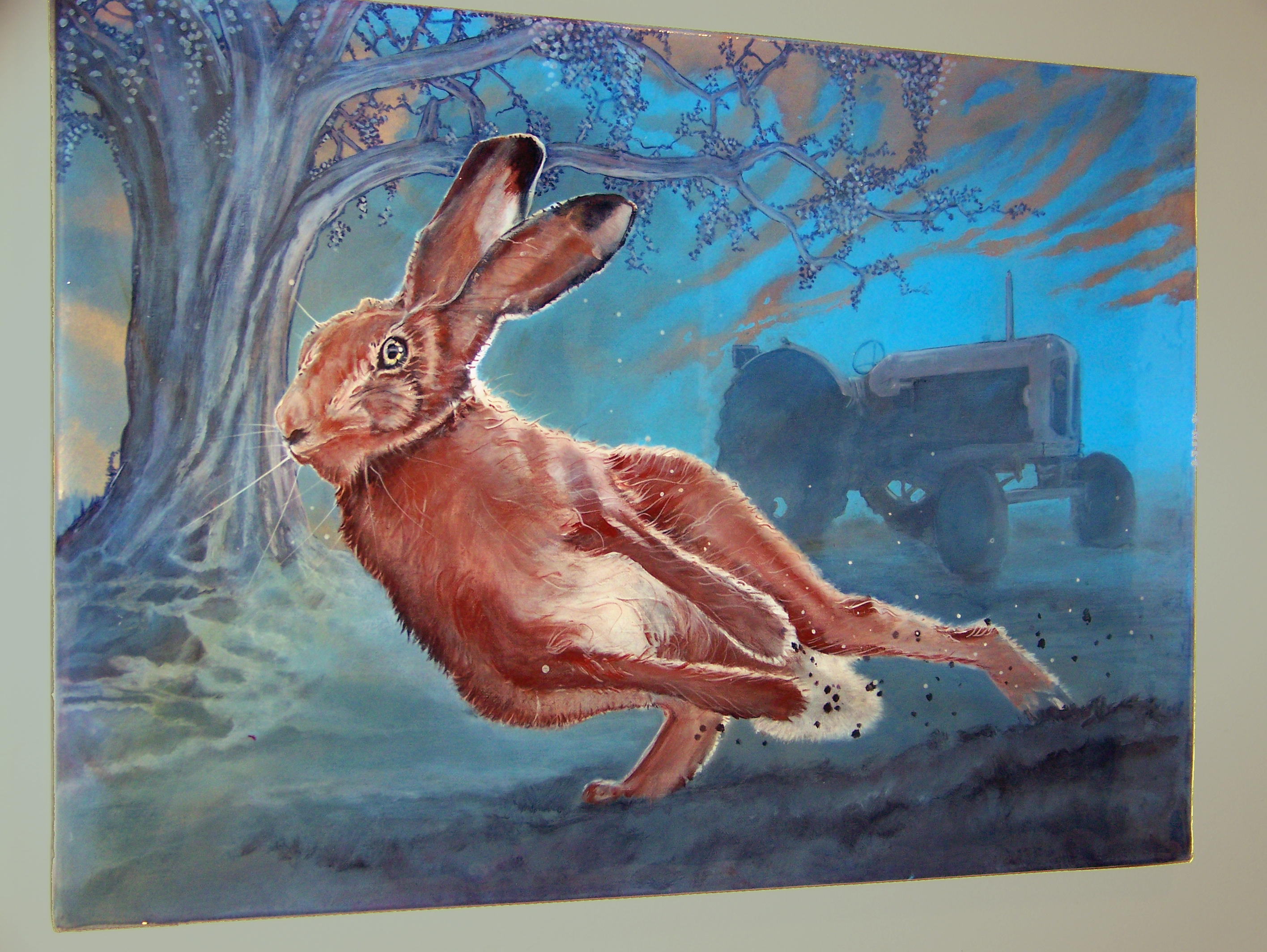 Hare Painting Mike Stevens