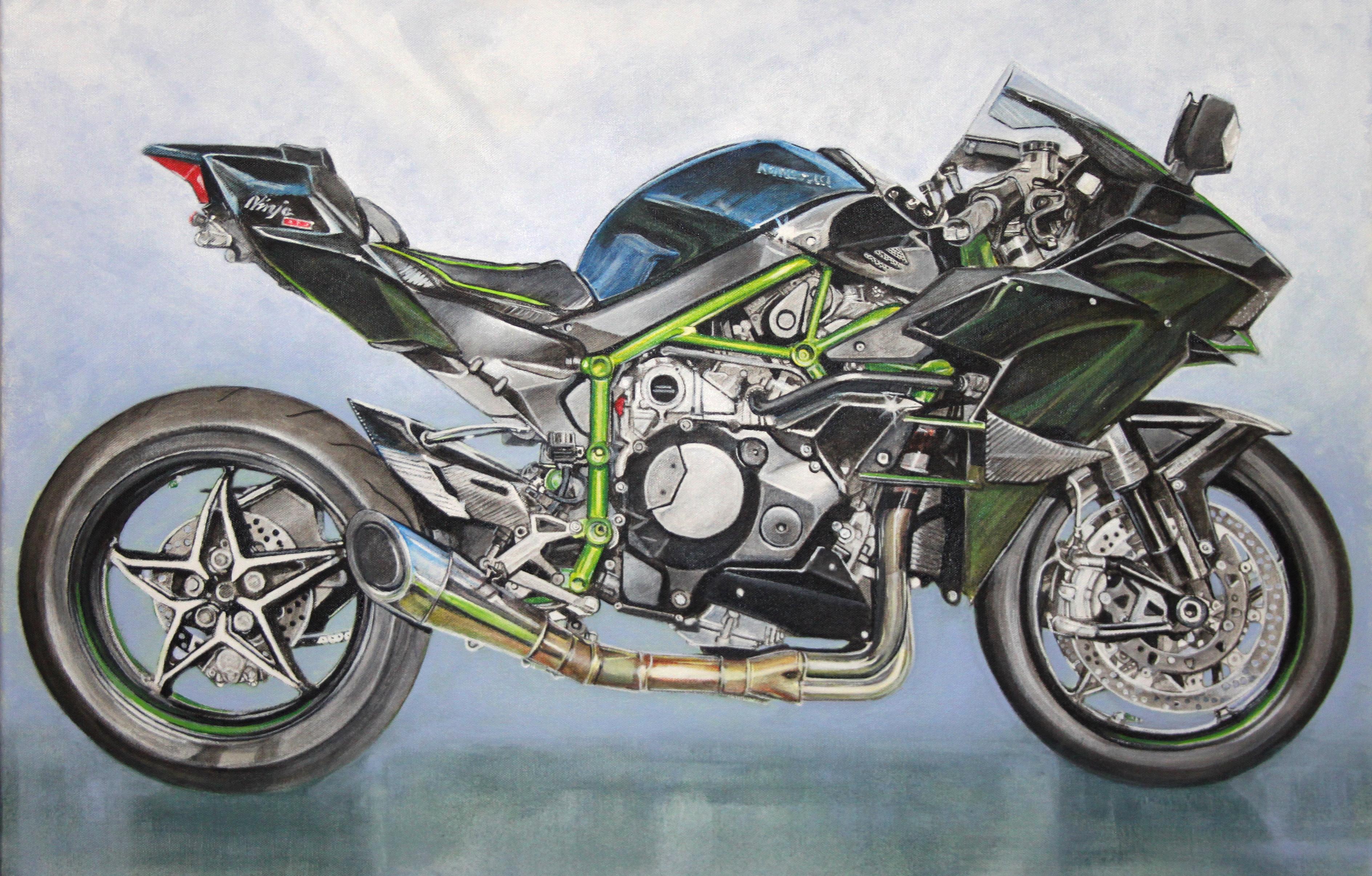 Kawasaki Ninja H2 motorbike