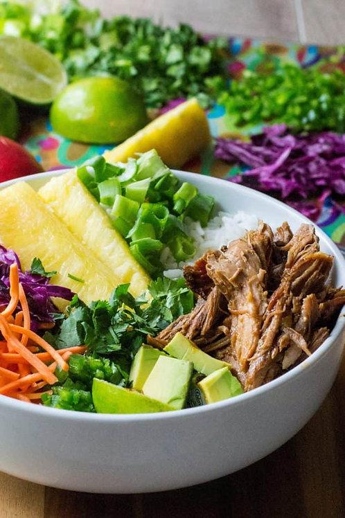 Pork Carnitas and Coconut Rice